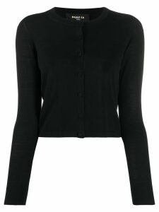 Paule Ka round neck cropped cardigan - Black