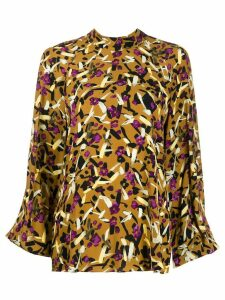 Dorothee Schumacher abstract print blouse - Brown
