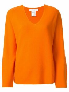 Fabiana Filippi cashmere V-neck jumper - ORANGE