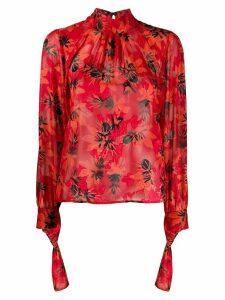 Patrizia Pepe floral print blouse - Red