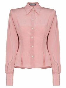 Dolce & Gabbana square-shoulder buttoned shirt - PINK