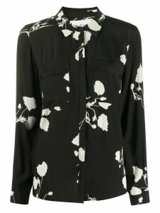 Ba & Sh Pola loose-fit floral-print shirt - Black