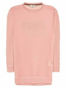 Fendi logo-embroidered jumper - PINK