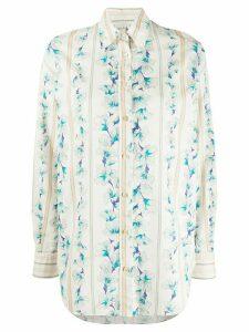 Forte Forte long sleeve Guadaloupe print shirt - NEUTRALS