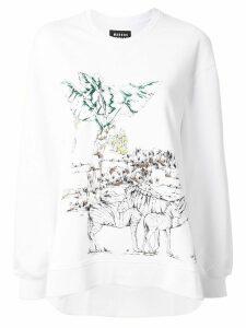 Markus Lupfer zebra print sweatshirt - White