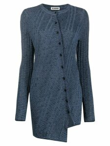 Jil Sander twisted asymmetric cardigan - Blue