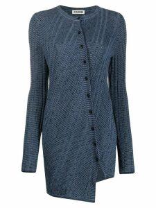 Jil Sander twisted asymmetric cardigan - Blue