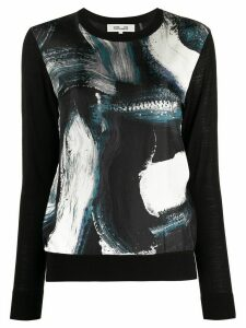 Diane von Furstenberg graphic print crew neck jumper - Black