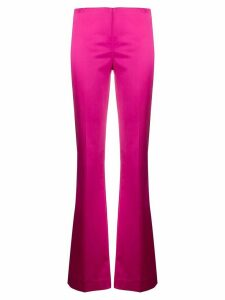 P.A.R.O.S.H. flared satin trouser - PINK