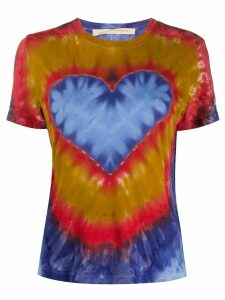 Raquel Allegra heart tie dye print T-shirt - Blue