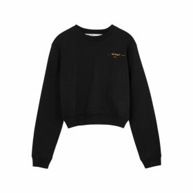 Off-White Coral Arrows Embroidered Cotton Sweatshirt