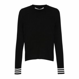 Off-White Industrial Black Ribbed-knit Top