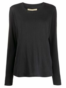 Raquel Allegra plain long sleeve top - Blue