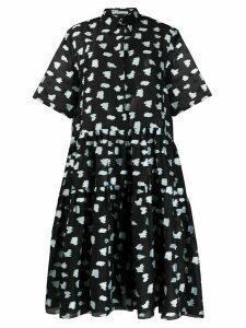 Cecilie Bahnsen Primrose super flared shirt dress - Black