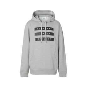 Burberry Tape Print Cotton Hoodie