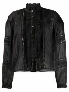 Isabel Marant Étoile Valda embroidered shirt - Black