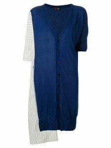 Y's striped pattern cardigan - Blue