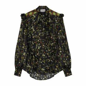 Preen By Thornton Bregazzi Tasha Floral-print Silk-blend Blouse