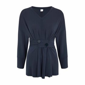 Max Mara Leisure Eletta Navy Jersey Top