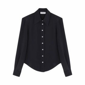 Serena Bute Navy Silk Shirt