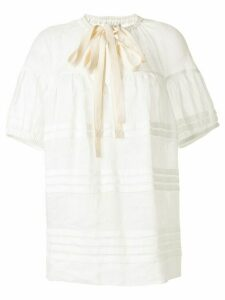 Lee Mathews Gigi puff-sleeve blouse - White