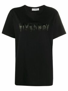 Givenchy faded embroidered-logo t-shirt - Black