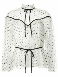 Alice McCall Space Odyssey pin-dot blouse - White