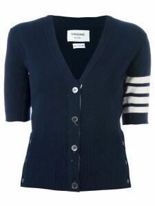 Thom Browne cashmere shortsleeved cardigan - Blue