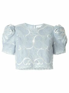 Alice McCall Dissolving Hearts crop top - Blue