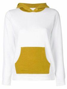 Visvim hooded colour block sweater - WHITE GREEN