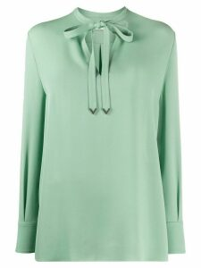 Valentino tie-neck long-sleeve blouse - Green