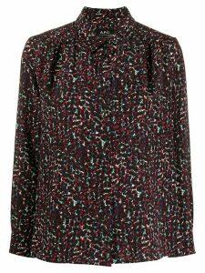 A.P.C. Sutton floral-print shirt - PURPLE