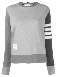 Thom Browne 4-Bar Fun-Mix crew neck Sweatshirt - Grey