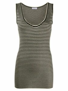 Brunello Cucinelli stripe tank top - NEUTRALS