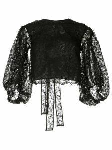 Cecilie Bahnsen floral tulle blouse - Black