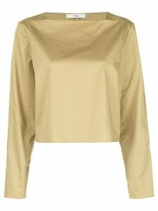 Tibi poplin boatneck blouse - Yellow