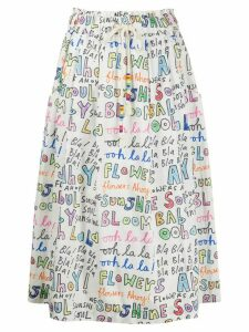Mira Mikati Ooh La La print tie waist skirt - White