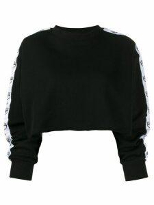 Chiara Ferragni Logomania cropped sweatshirt - Black