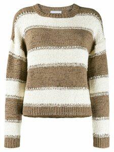 Fabiana Filippi chunky knit striped sweater - Brown
