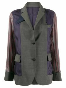 Sacai fabric mix blazer - Grey