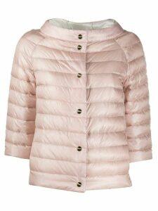 Herno collarless padded jacket - PINK
