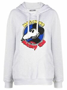 Moschino Mickey Rat cotton hoodie - Grey
