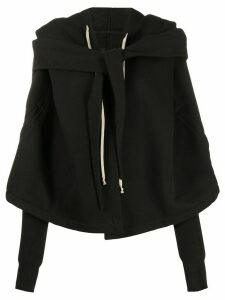 Rick Owens DRKSHDW layered tie-front sweater - Black