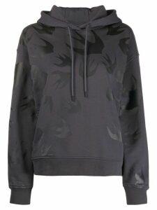 McQ Alexander McQueen swallow print hoodie - Grey