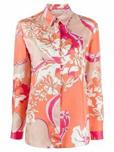 Emilio Pucci abstract print silk shirt - ORANGE