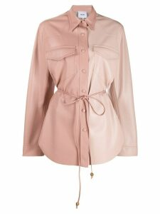 Nanushka Eddy faux leather shirt - PINK