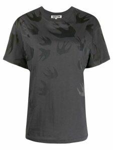 McQ Alexander McQueen swallow print T-shirt - Grey