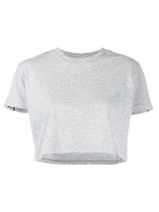 Chiara Ferragni Logomania cropped T-shirt - Grey