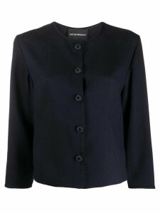 Emporio Armani boxy button-front blouse - Blue