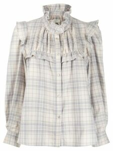 Isabel Marant Étoile Atedy checked blouse - PINK